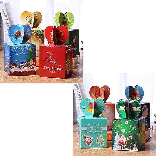 kungfu Mall 16pcs Cajas de Dulces de Navidad Caja de Regalo Caja ...