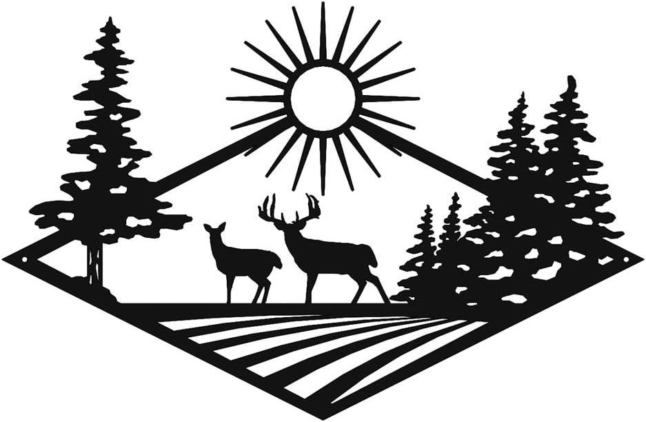 New Hunting Decor Dog Metal Sign Black Lab Raw Steel Lake Hunter Fish Cabin