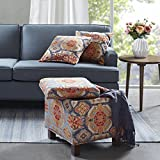 Madison Park FPF18-0179 Shelley Square Storage Ottoman with Pillows