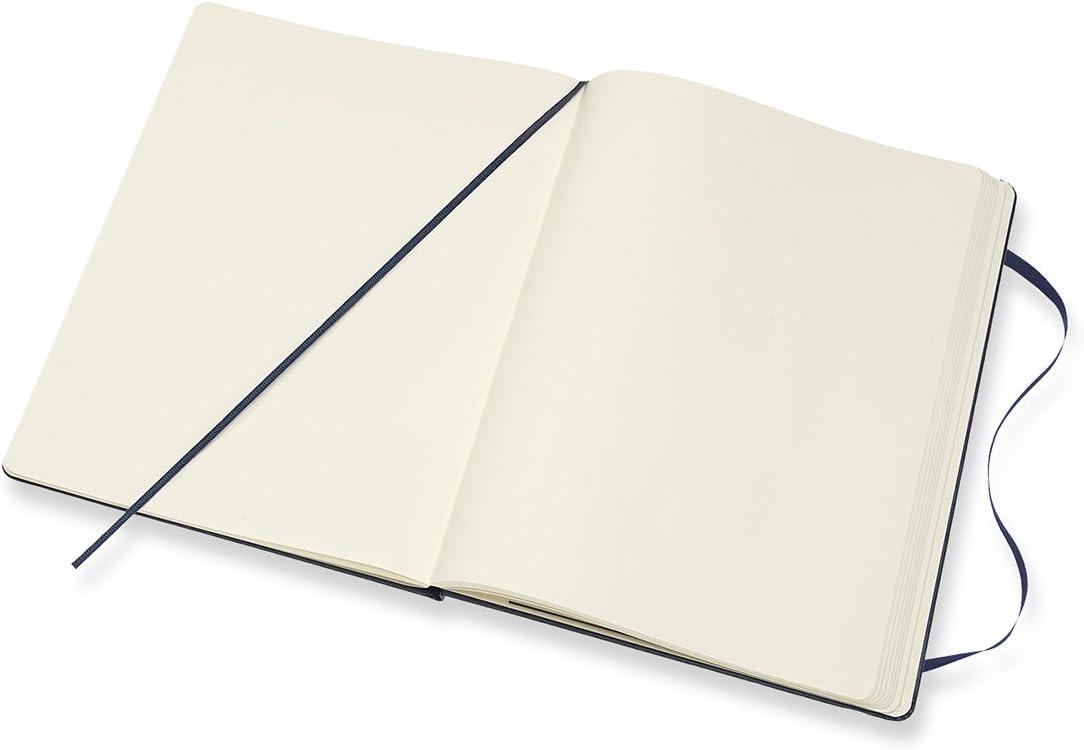Taille Tr/ès Grand Format 19 x 25 cm Moleskine Couleur Terre dOmbre Carnet de Notes Classique Papier /à Pages Blanche Journal Couverture Rigide et Fermeture par Elastique 192 Pages