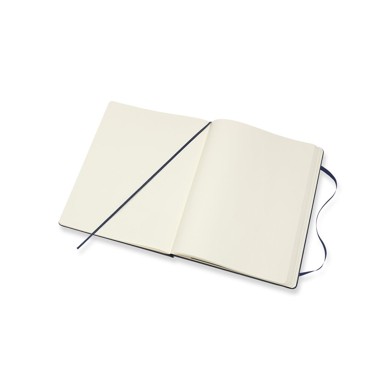 Couleur Bleu Saphir Journal Couverture Rigide et Fermeture par Elastique Moleskine Taille Tr/ès Grand Format 19 x 25 cm 192 Pages Carnet de Notes Classique Papier /à Rayures