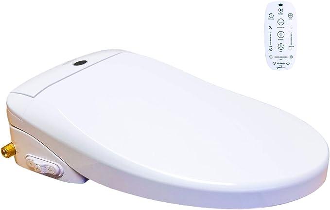 Geniebidet ronde Bidet WC siège non électrique élégant et simple à installer