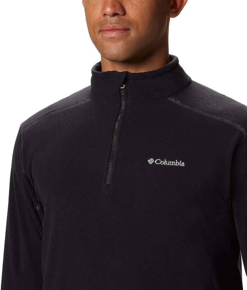 Columbia Mens Half-Zip Fleece Klamath Range II L Black
