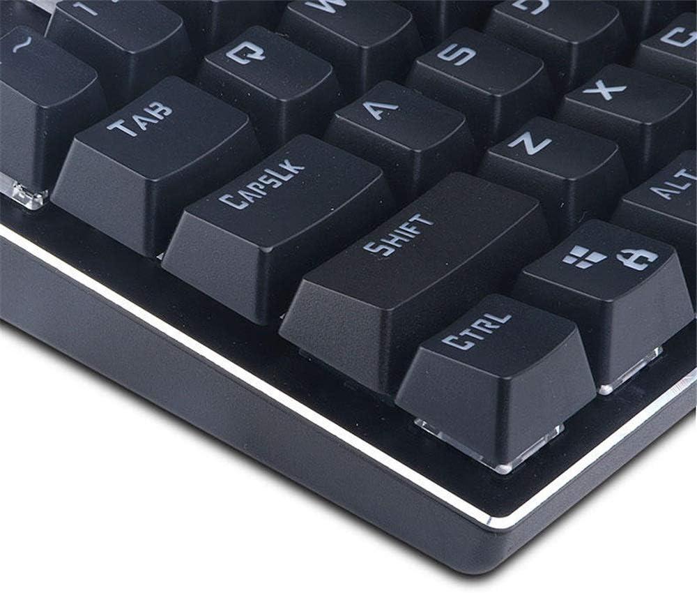 Color : Black, Size : One Size YADSHENG Mechanical Gaming Keyboard 81 Key USB Wired RGB Backlit Blue Switch Mechanical Gaming Keyboard ABS Keycaps Keyboards
