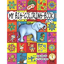 My Big Red Coloring Book Vol. 1: Over 100 Big Pages of Family Activity! Coloring, ABCs, 123s, Characters, Puzzles, Mazes, Shapes, Letters + Numbers for Boys, Girls, Toddlers and even Adults! Age 3+