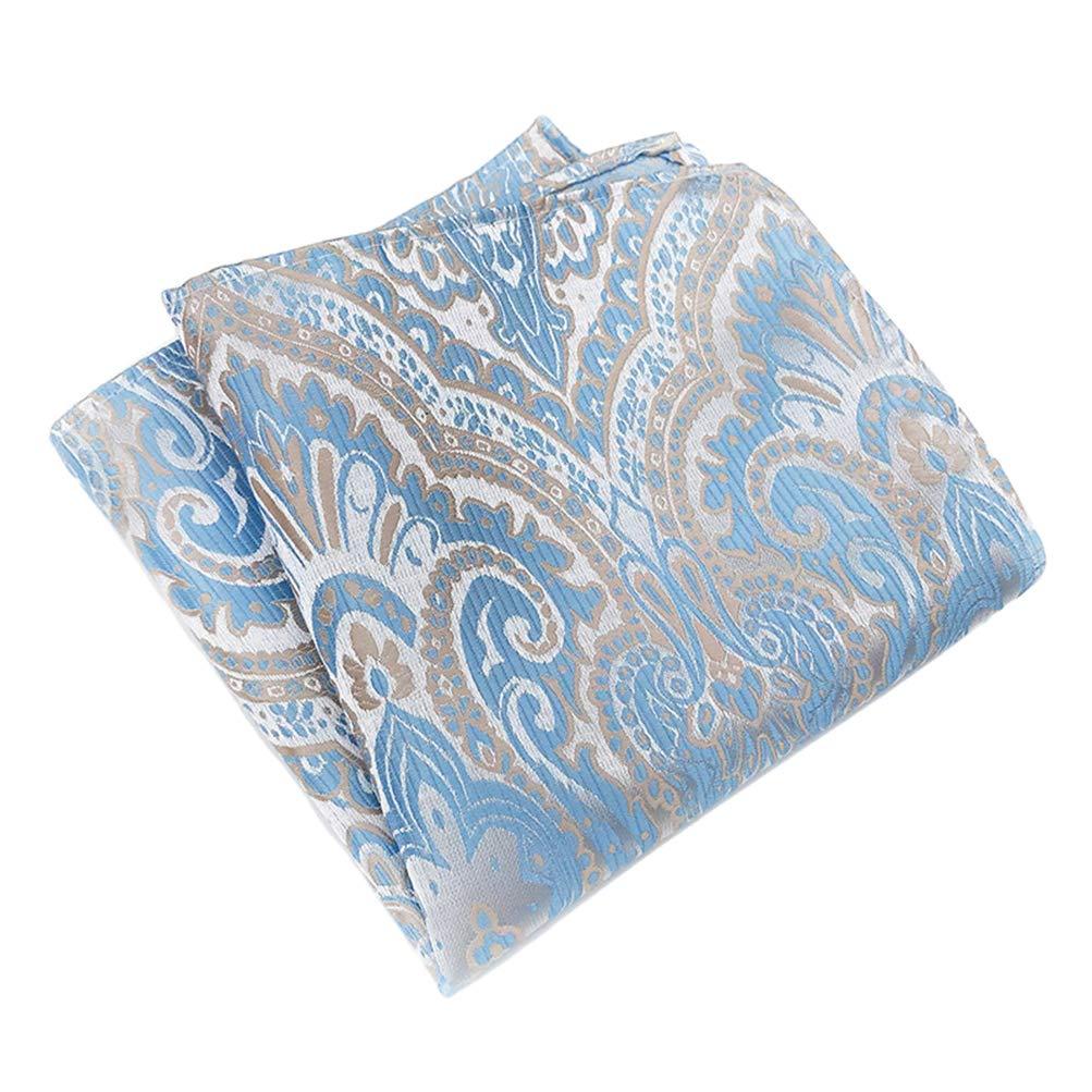 Mens Luxury Pailey 4 Pcs Cravat Ascot Scarf Tie Neckties Pocket Square Set of 4