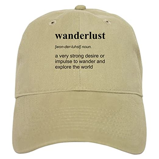 CafePress - Wanderlust Definition Baseball - Baseball Cap with Adjustable  Closure d4a37f136