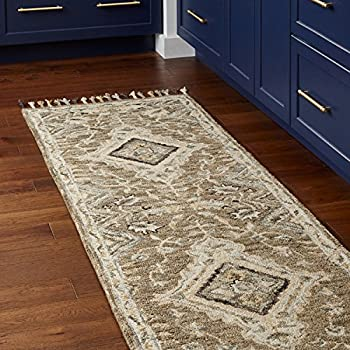 Amazon Com Stone Amp Beam Vero Medallion Wool Runner Rug 2
