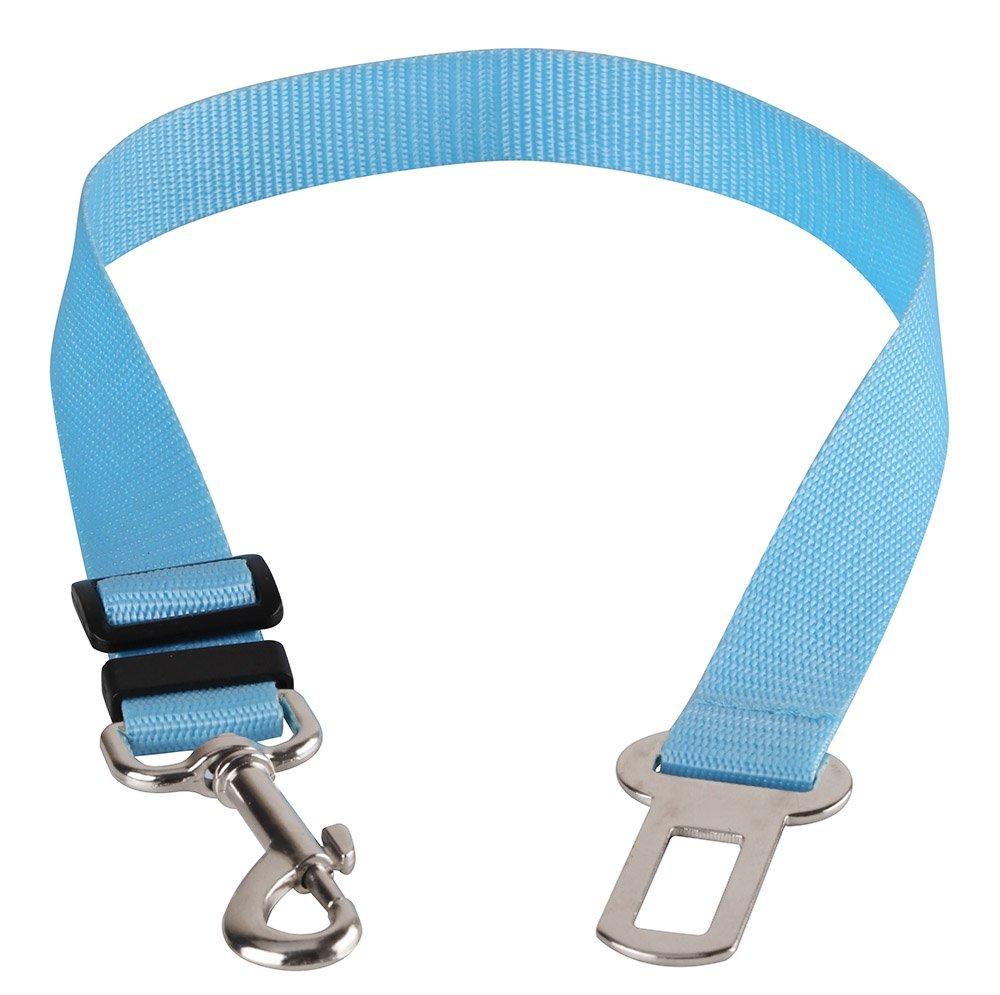 Car Vehicle Auto Safety Seat Belt for Dog Pet (7 Color) (Blue)