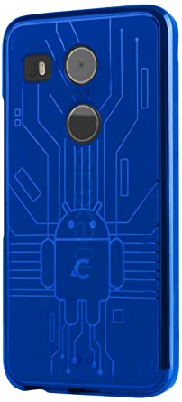 Nexus 5X Case, Cruzerlite Bugdroid Circuit Case Compatible for LG Nexus 5X - Blue