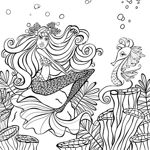 Zendoodle Coloring Presents Mermaids In Paradise An Artists Book