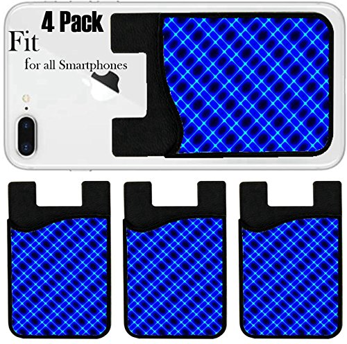 Liili Phone Card holder sleeve/wallet for iPhone Samsung Android and all smartphones with removable microfiber screen cleaner Silicone card Caddy(4 Pack) Vector illustration of futuristic color - Futuristic Terms