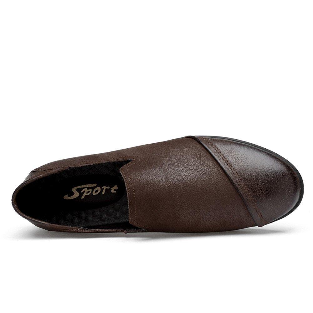 XHD-Schuhe Komfortable Klassische Herren-Müßiggänger Weiche Echtleder-Slipper von Mokassins Freizeitschuhe  (Farbe   Braun, Größe  Freizeitschuhe  36 EU) 4c54e8
