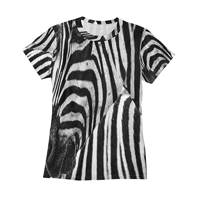 6381cfafe Black and White Zebra T Shirts for Women Top Tee Crew Neck Performance  Tshirts