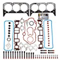 SCITOO Replacement for Head Gasket w/Bolts Kit fit GMC Sonma Savana Isuzu Bravada Cheverolet 4.3L V6 OHV 1996-2006 Automotive Engine Head Gasket Bolts Set