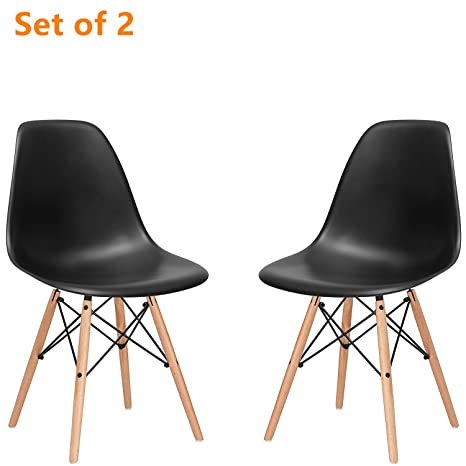 Super Motree Modern Side Chair Mid Century Modern Style Dining Chair Eames Effiel Modern Dsw Chair For Kitchen Dining Bedroom Living Room Set Of 2 Black Creativecarmelina Interior Chair Design Creativecarmelinacom