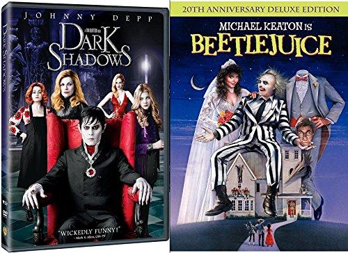 Tim Burton Beetlejuice DVD & Dark Shadows Johnny Depp Tim Burton Fantasy Action Bundle Double Feature set (Tim Burton Helena Bonham Carter Johnny Depp)