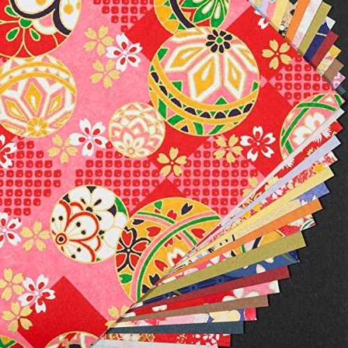 15cm avec des Motifs Traditionnels Papier Origami Japonais 32 Qualit/é De Grandes Feuilles De Washi