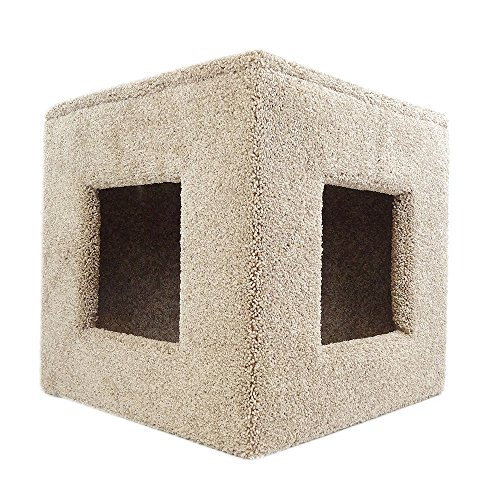 New Cat Condos Premier Pet Hiding Cube, Beige
