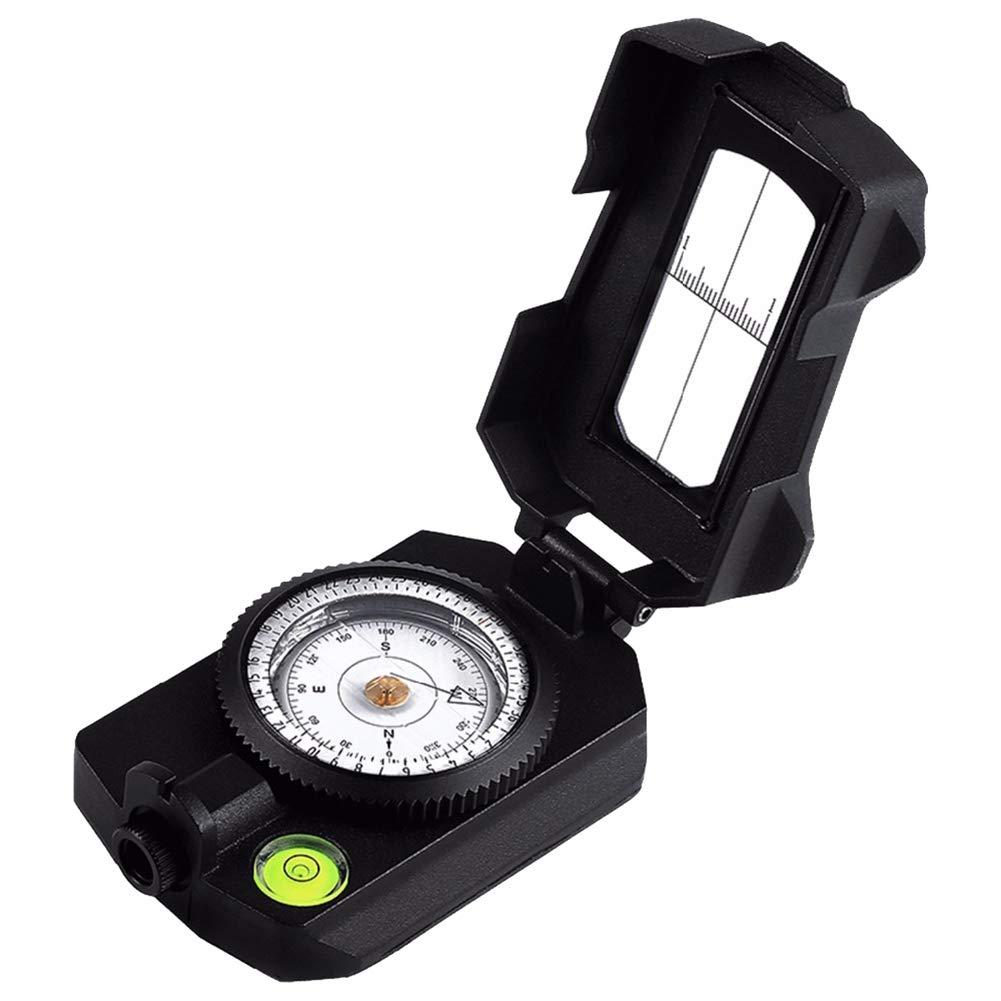 Tragbarer Geologie-Kompass aus Metall, Neigung, Azimut und Ablenkwinkelmessungen, Wasserdicht und Frostschutzmittel, Outdoor-Camping-Erkundungswerkzeug