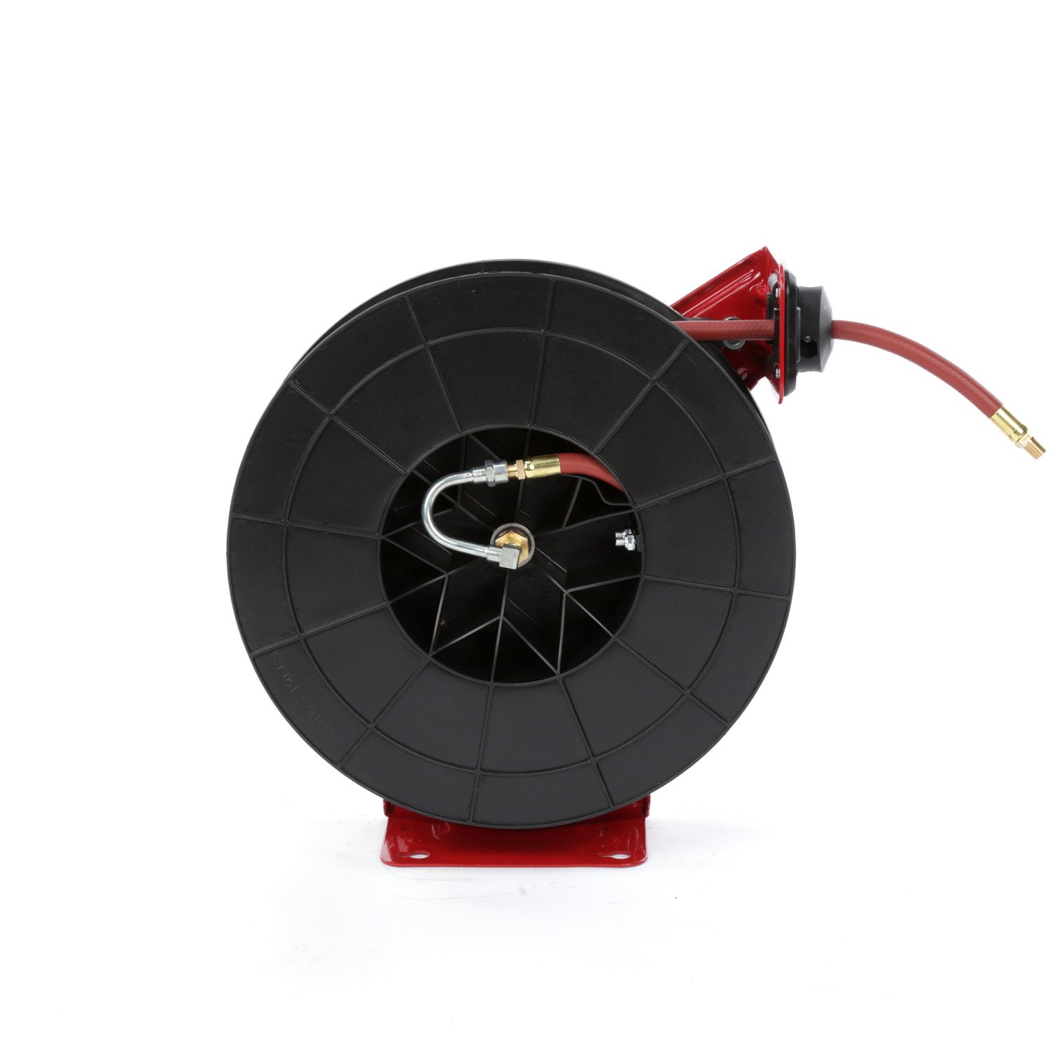 """Spring Driven Hose Reel for Air and Water Reelcraft 5635 Premium Duty Spring Retractable Hose Reel ⅜/"""" x 35/'"""
