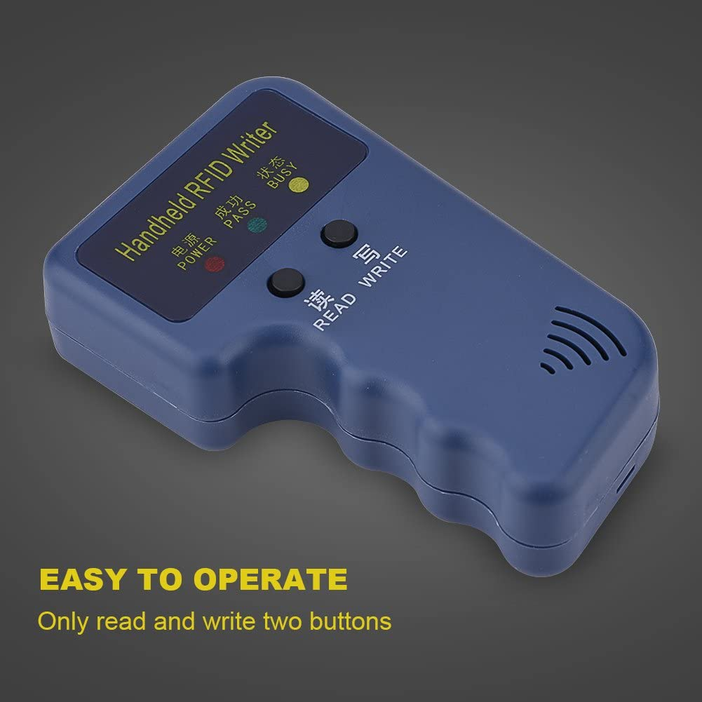 Cards with This RFID Copier 125Khz RFID Reader Writer Handheld RFID ID Card Copier Reader//Writer Duplicator ID Copier for ID EM4100