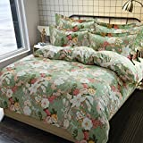 Single cotton quilt cover,Thickened Coral velvet Quilt cover Single Flannel Bedding bag-V 5978.7inch(150200cm)