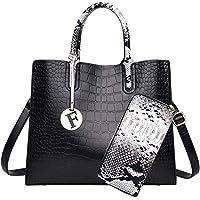 حقيبة يد نسائية عصرية، حقيبة يد مكونة من قطعتين بلون ازرق داكن