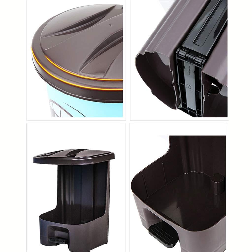 LJGXLJ Compartimiento del Superior Pedal Delgado Tapa Superior del del Recipiente/Cubo de Basura/Cubo de Basura/Cocina/Hogar/Plástico - Rectángulo de 8L a4ab71