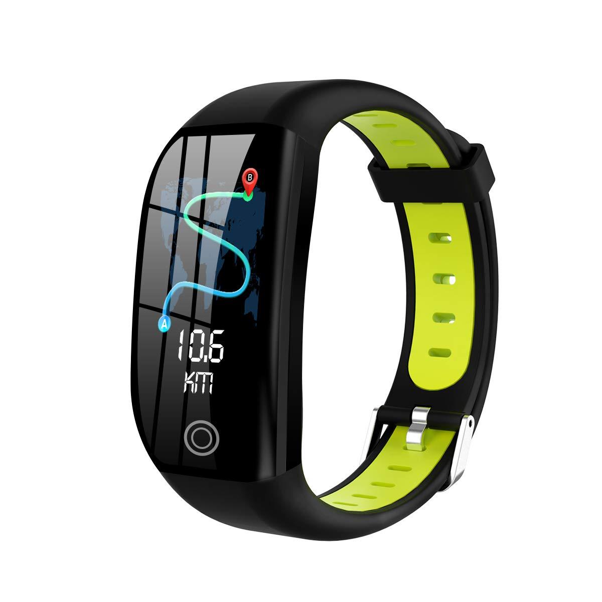 SPORS Waterproof Call Reminder Heart Rate Monitor Watch, Pedometer Sport Smart Watch, Sleep Monitoring Smart Bracelet-Green by SPORS
