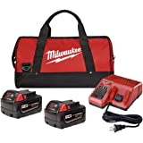 Milwaukee 48-59-1840P M18 18-Volt Lithium-Ion XC Starter Kit with Two 4.0 Ah Batteries, Charger