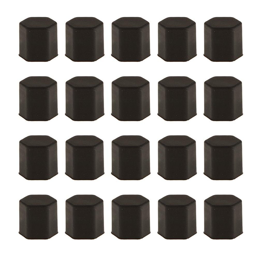 Paquete 20 Tornillo Proteger Perno Cubierta Tapa de Tuercas Seguridad Neum/ático Rueda de Coche 17mm Negro