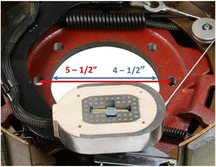 Trailer Axles; 1 LH M-Parts 1 Pair of Self-Adjusting 12-1//4 X 5 77-1212-1 77-1212-2 12K-15K + 1 RH 12.25 X 5 Electric Trailer Drum Brake Assemblies Kit for 12,000 to15,000 Lbs