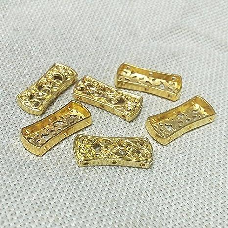 20Pcs Gold Finished Multi 3 Strand End Bar Clasps 24x8mm