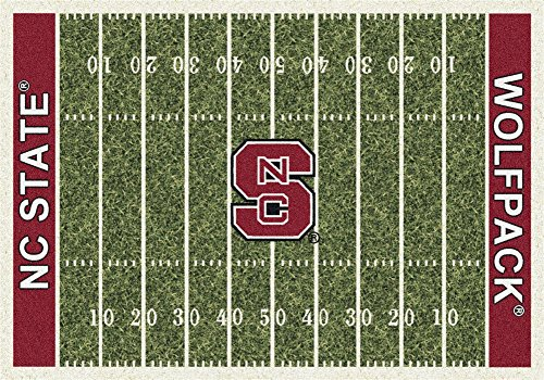 Milliken 4000018569 North Carolina State College Home Field Area Rug, 5'4
