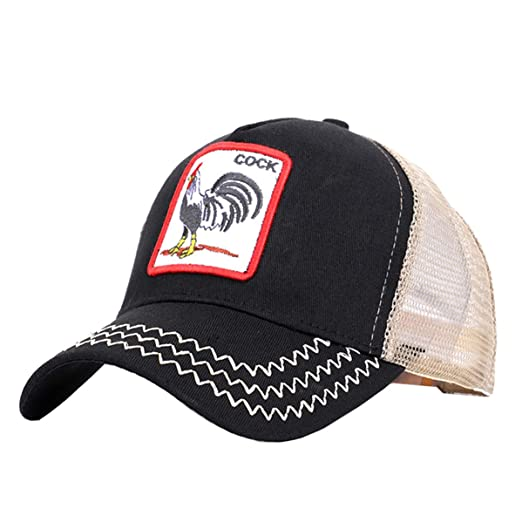 c67c7e09 Cock-Trucker Animal Hats Mesh Unisex Embroidered Snapback Adjustable ...