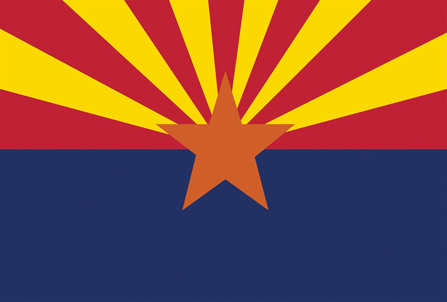 Toland Home Garden Arizona State Flag 12.5 x 18 Inch Decorative USA Garden Flag