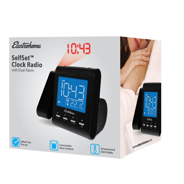 Amazoncom Electrohome Projection Alarm Clock with AMFM