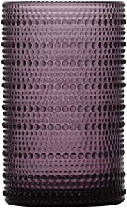 D&V By Fortessa Jupiter Iced Beverage Glass, 13 Ounce, Set of 6 (Purple)
