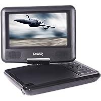 "Laser Multi Region Compact 7"" Portable DVD/ USB Player- 180 Degree Swivel"