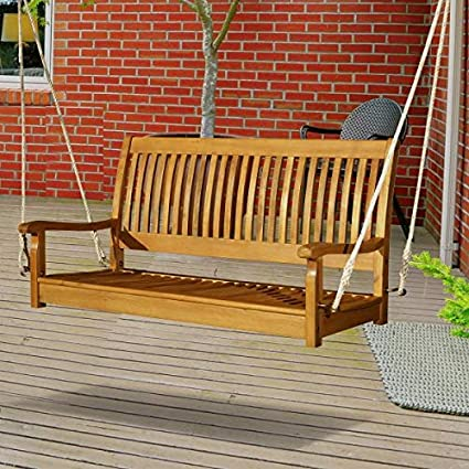 Marvelous Amazon Com Outdoor Luxury Hanging Porch Swing 2 Persons Pabps2019 Chair Design Images Pabps2019Com