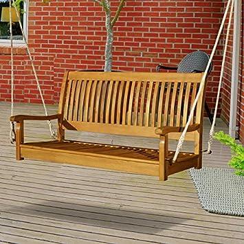 Amazon.com: Aire libre lujo colgante Porch Swing 2 personas ...