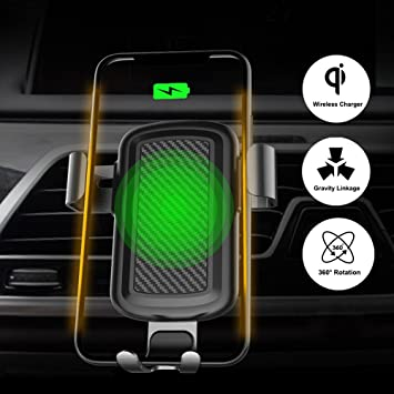TeslaOwner Qi - Cargador de coche inalámbrico, rotación de ...
