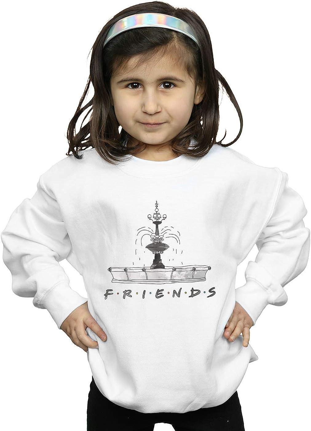 Absolute Cult Friends Girls Fountain Sketch Hoodie