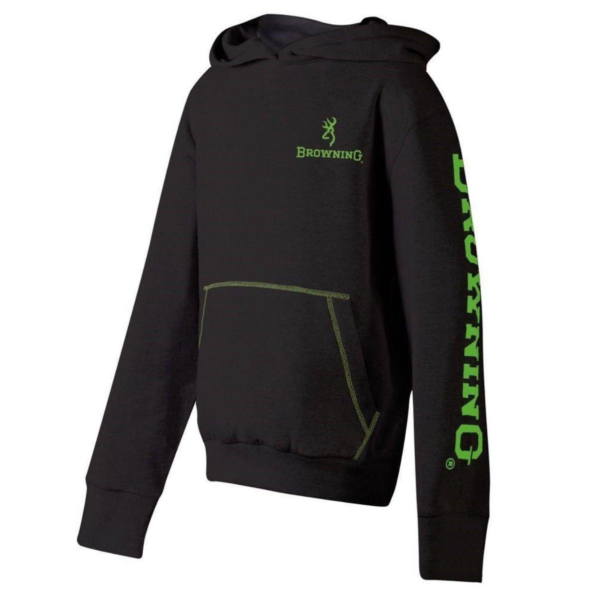 Browning Boys Youth Drifter Sweatshirt Buckmark Hoodie Black Size Medium