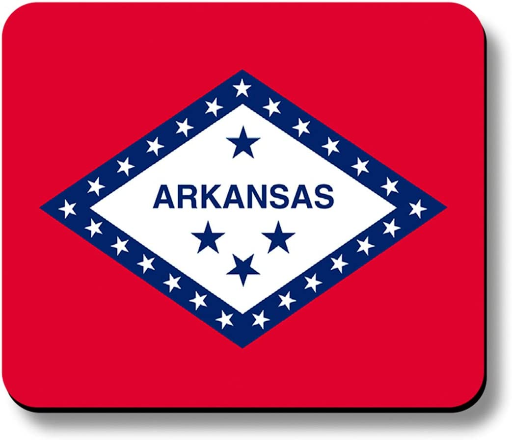 Arkansas State Flag Computer Mouse Pad Non-Slip 1//4 in Thick 9.25x7.75 Made in USA