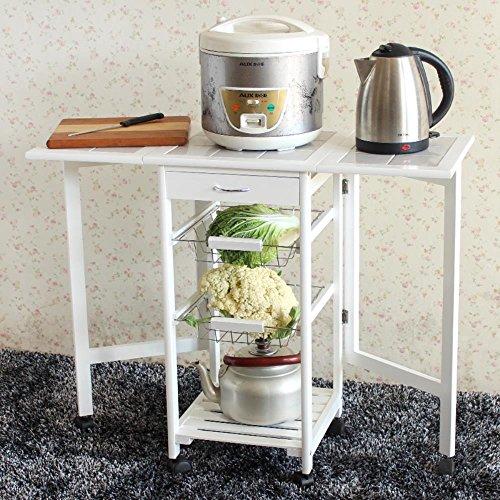 Ktaxon Folding Rolling Kitchen Island Cart Trolley Portable Basket Shelf Storage (6 Drawer Quiet Glide Chest)