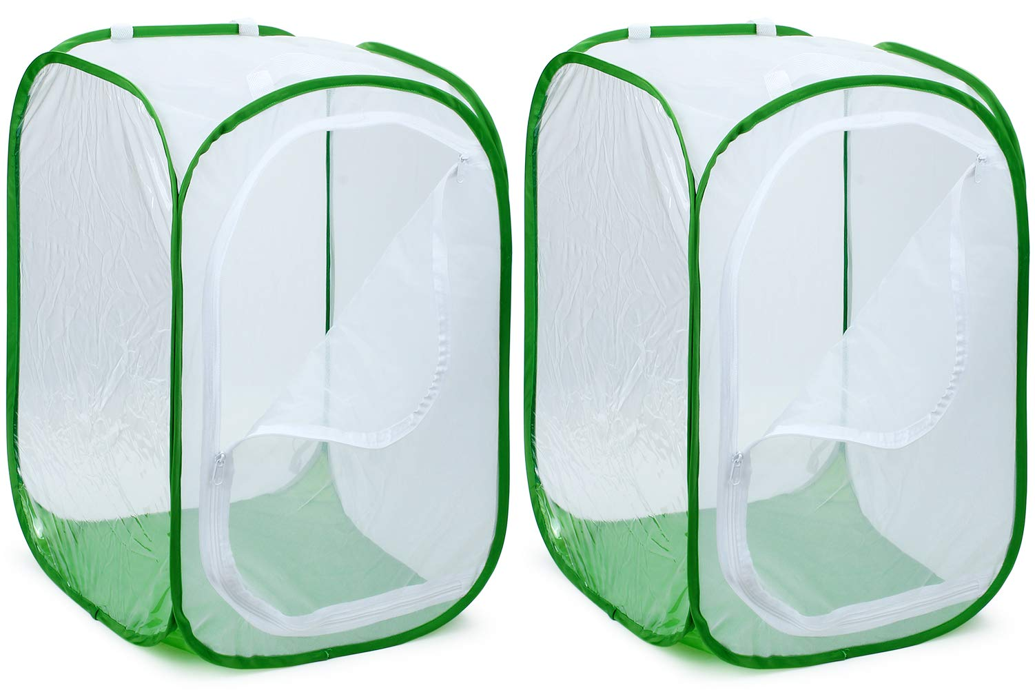 RESTCLOUD 2-Pack 36'' Large Monarch Butterfly Habitat, Giant Collapsible Insect Mesh Cage Terrarium Pop-up 24 x 24 x 36 Inches