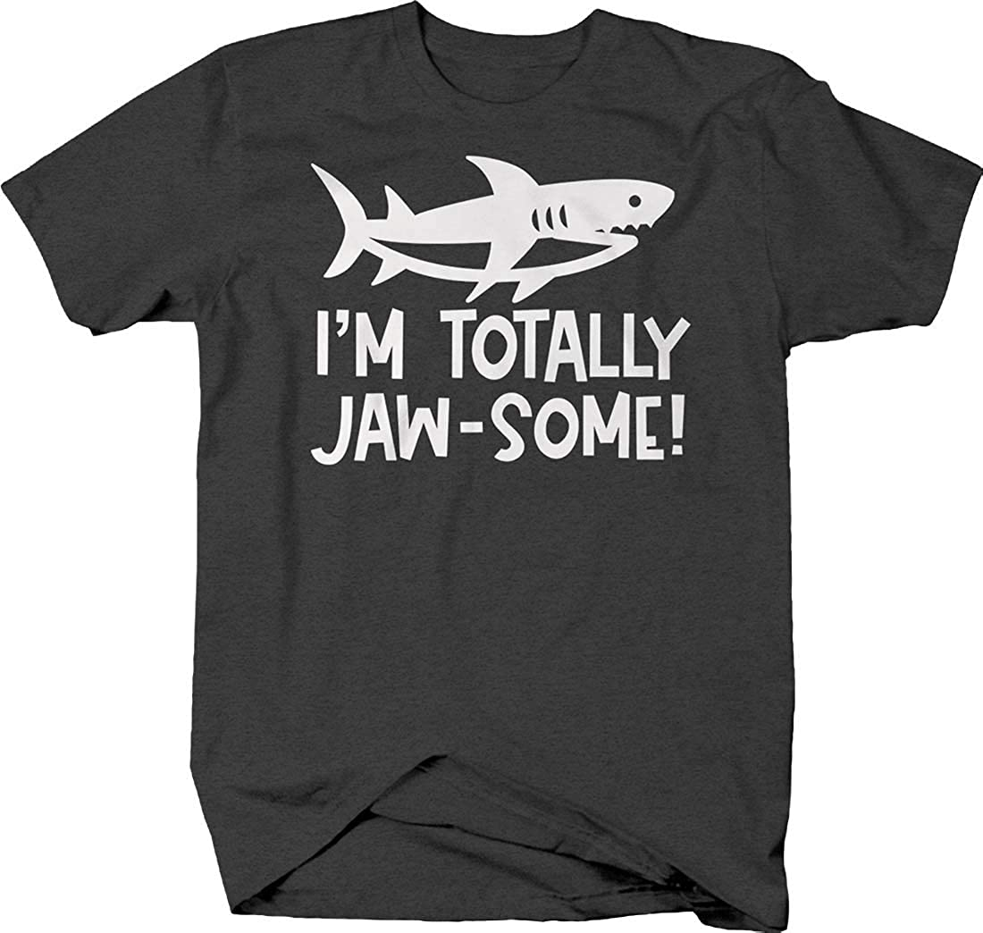 I'm Totally jaw-Some! Shark Silhouette caps Funny Awesome Ocean T Shirt for Men