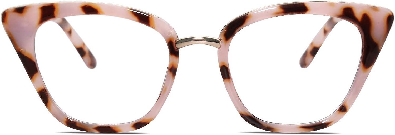 SOJOS Cateye Anti Blue Light Blocking Glasses Women Computer Eyeglasses SJ5051
